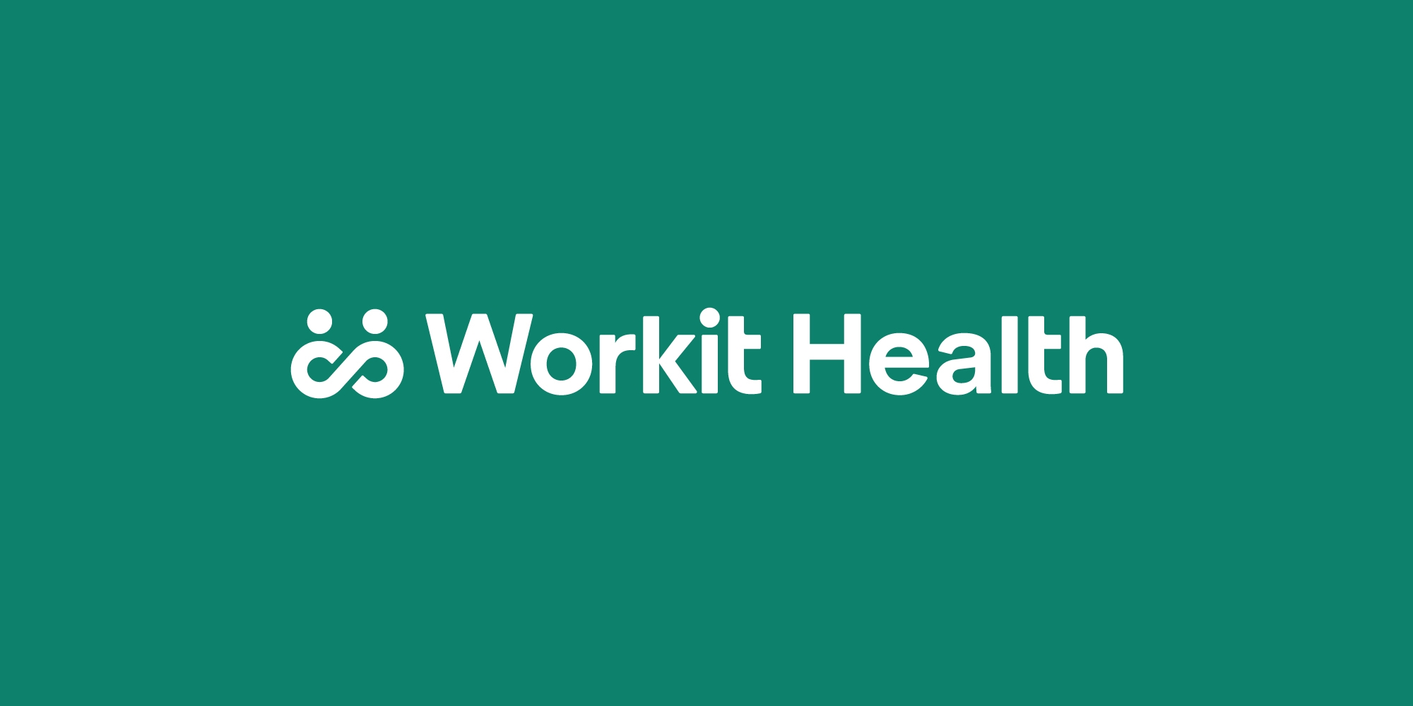 Workit Health logo on a green background