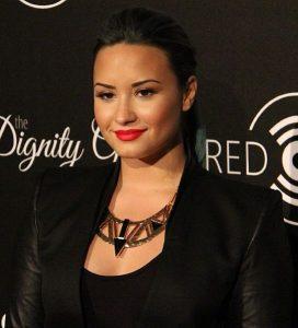 Demi Lovato on a red carpet