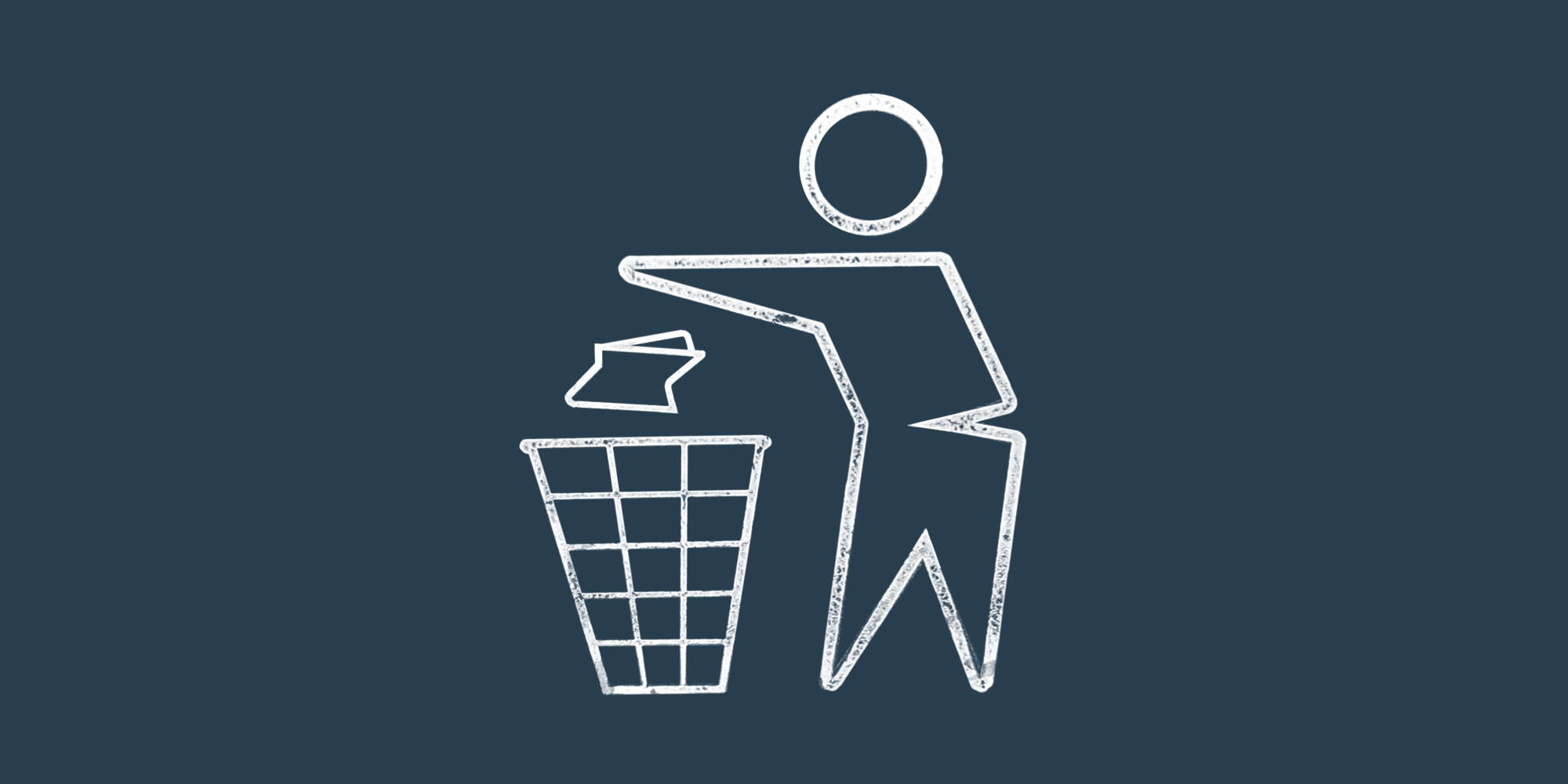 "The ""No Littering"" icon, which shows a person throwing trash in a garbage can. Drug Take back."