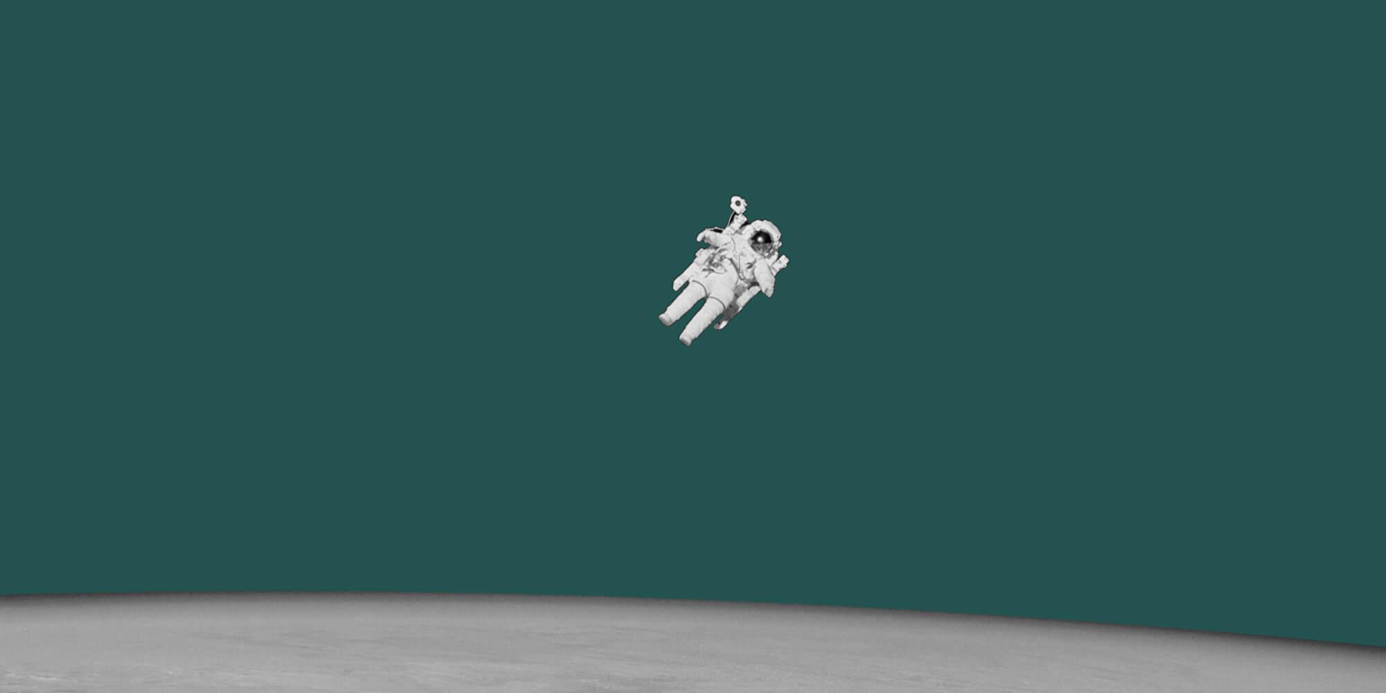 Lone astronaut