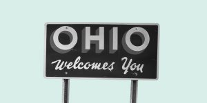 """Sign that reads. """"Ohio welcomes you."""" Workit Health expands to Ohio."""