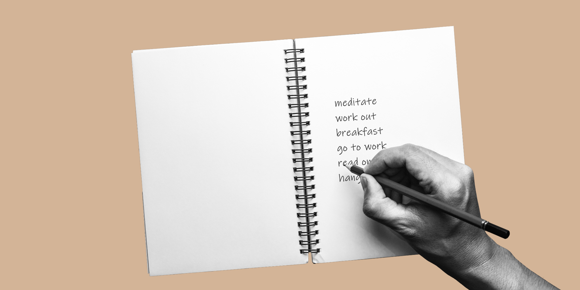 Writing a list in a notebook. Creating a recovery routine