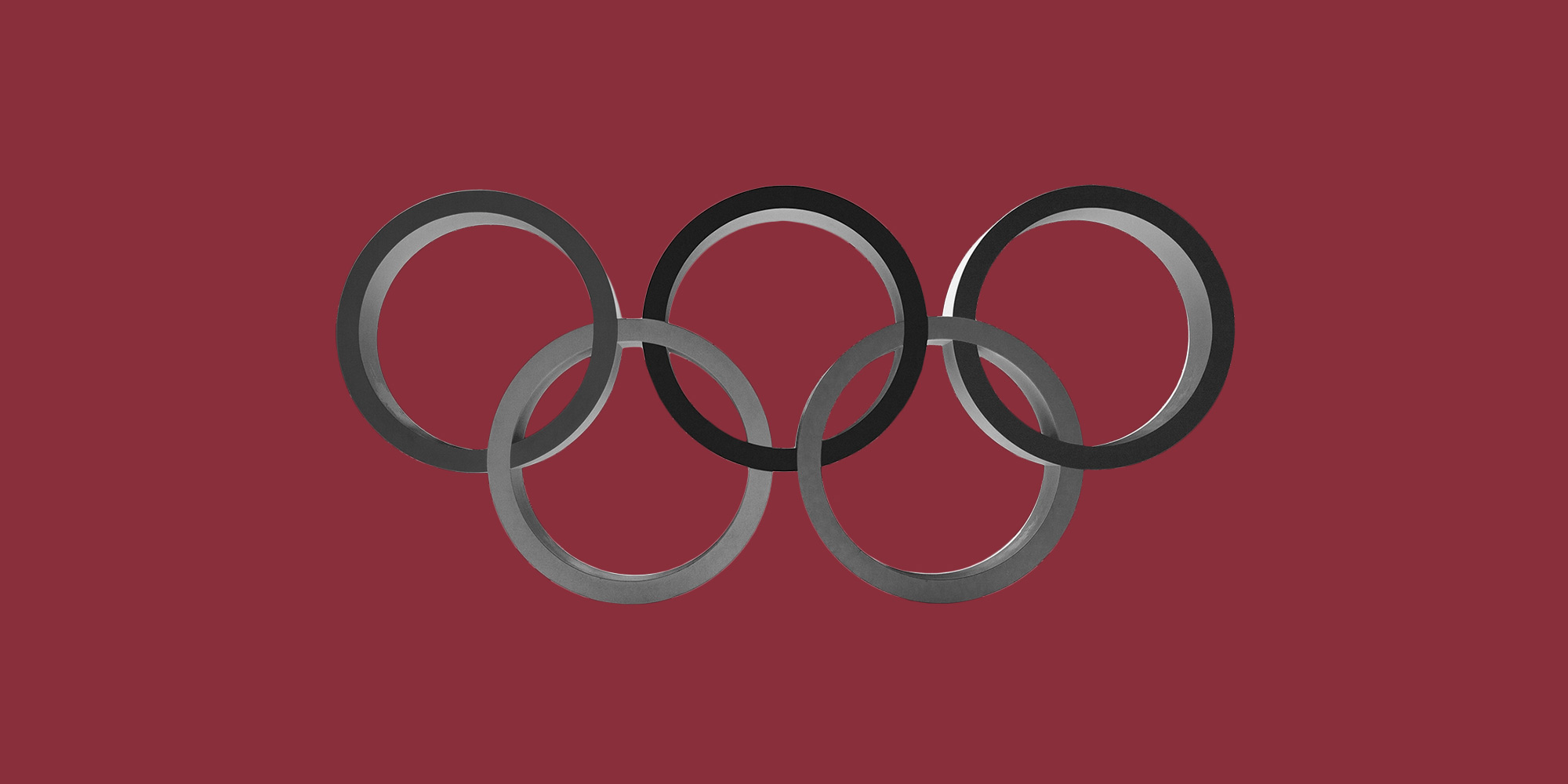 The Olympic rings. Olympic athletes in addiction recovery