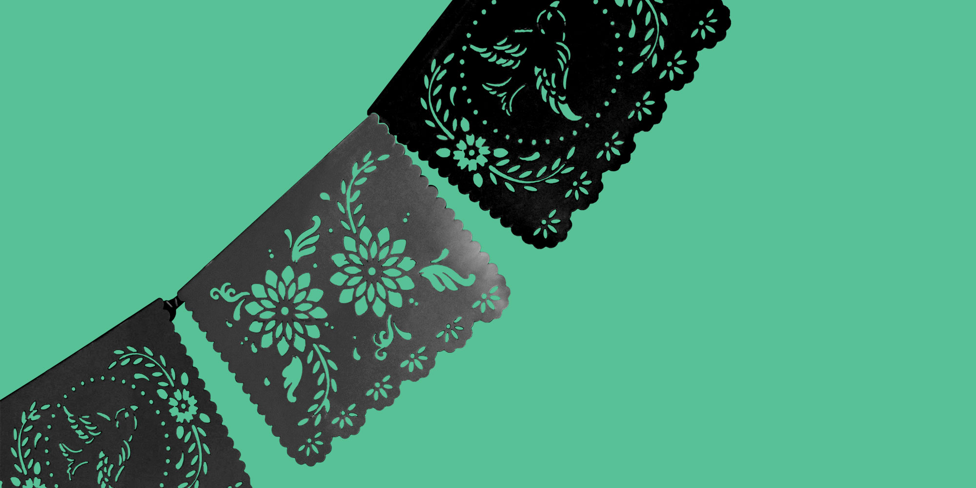 Cut paper flags on a green background. Hispanic and Latino Celebrities in Recovery