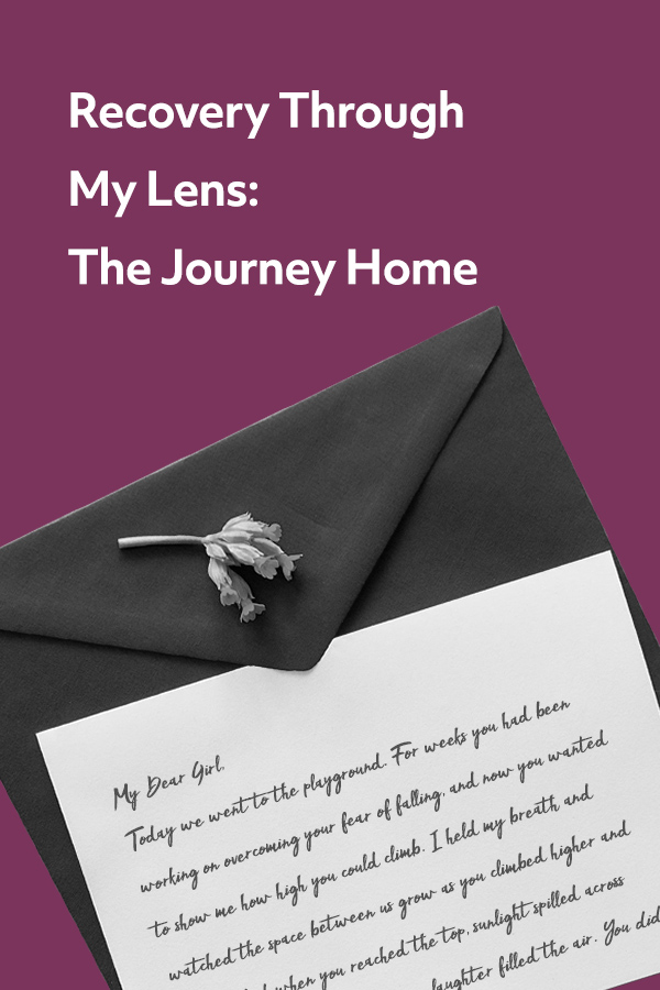 Recovery Through My Lens: a letter from a mother in recovery to her daughter providing hope and guidance for life.