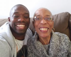 Freddy Shegog and his mother. Parenting in Recovery