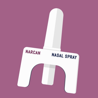illustration of a Narcan nasal spray - naloxone